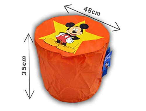 CALINUIT - Pouf Orange Mickey Mouse Top Model Disney Pas Cher