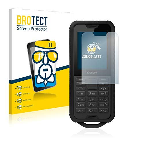 BROTECT Panzerglas Schutzfolie kompatibel mit Nokia 800 Tough - AirGlass, extrem Kratzfest, Anti-Fingerprint, Ultra-transparent