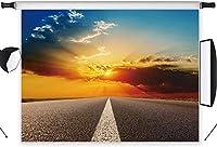 新しい10x7ft太陽の下の高速道路ビニール写真の背景カスタマイズされた写真の背景背景スタジオプロップYL34