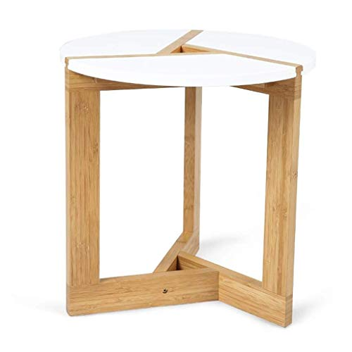 AXAA End Tables Side Table Coffee Table Tea Table Scalloped Sofa Table Side Table Solid Wood Small End Table For Living Room Office (Size : 40CM)