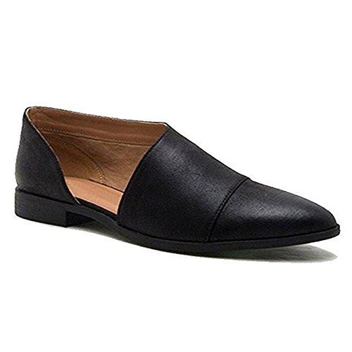 Blivener Men's Casual Handmade Driving Shoes Slip on Loafer Blue US 12