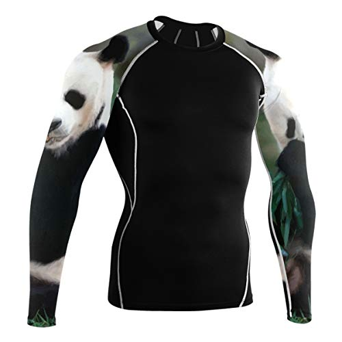 LUPINZ Giant Panda Comer Hojas de Bambú Transpirable Deporte Camisa Manga Larga...