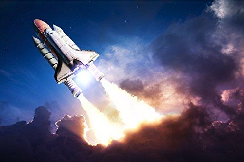 Raketenstart Weltraum Raumfahrt XXL Wandbild Foto Poster P0227 Größe 150 cm x 100 cm, Größe 150 cm x 100 cm