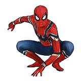 Iron Spiderman Jumpsuit Kid Avenger Superhero Body Unisex Halloween Party Toy Body Atuendo Niños Movie Fans Medias Regalo De Cumpleaños Leotardo Prenda,Red-M Kids(115~125cm)
