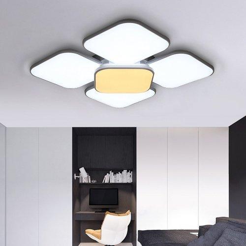 Cxjff Fsders 84W Plafoniera a LED 7440 Lumen Illuminazione Moderna IP44 Illuminazione a soffitto for Sala da Pranzo in Metallo da 20-45 m2 (Color : White)