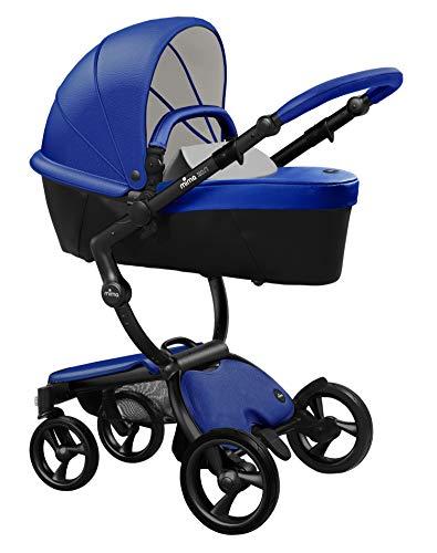 Mima Xari Stroller (Black Chassis, Royal Blue Seat, Stone White Starter Pack)