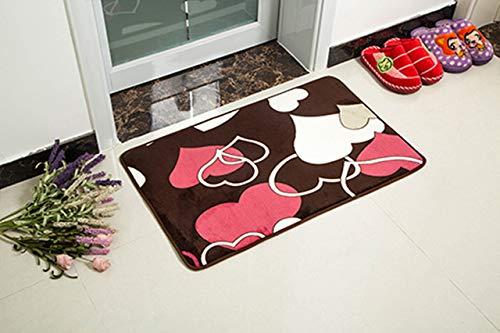 Mdsfe Weiche Mikrofaser Badezimmerteppich Fußmatten für die Küche Wohnzimmer Schlafzimmer Tür Teppiche Anti-Rutsch-Badematte Toilettenmatte Badezimmerteppich - Daxin, ca. 0,8x2m
