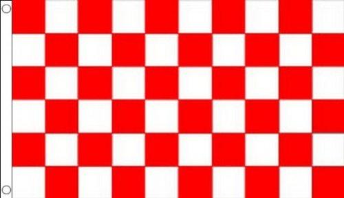 AZ FLAG Bandiera A Scacchi Rossi E Bianchi 150x90cm - Bandiera Scacchiera Rossa E Bianca 90 x 150 cm