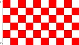 AZ FLAG Red and White Check Flag 3' x 5' - Checkered Racing Flags 90 x 150 cm - Banner 3x5 ft