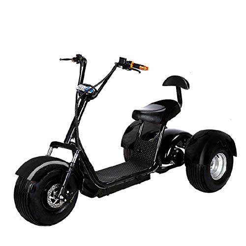 Best Bargain 2000W 60V 20AH Golf Cart Electric Bike eBike Mobility Scooter 3 Wheel Moped w/Off Road ...