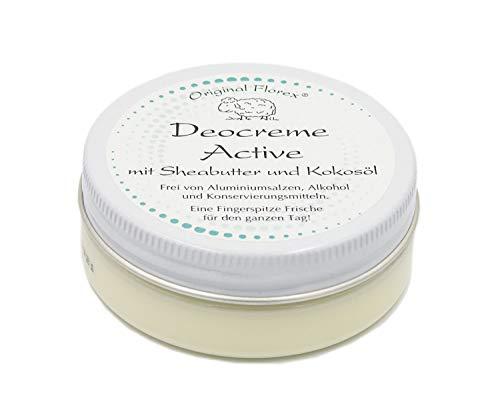 Desodorante en crema de 40 ml, activo, fresco y deportivo, de Florex, libre de sales de aluminio, conservantes y alcohol.