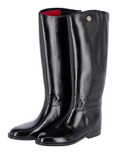 Kerbl Damen Reitstiefel Flexo, PVC Gummi Stiefel Gummireitstiefel, schwarz 43