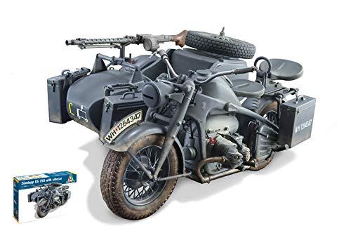 ZUNDAPP KS 750 W/SIDECAR KIT 1:9 - Italeri - Kit Moto - Kit di Montaggio