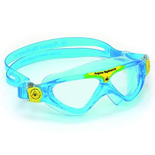 Aqua Sphere Schwimmbrille Vista Kinder Taucherbrille Blaue Gläser, hellblau, One Size