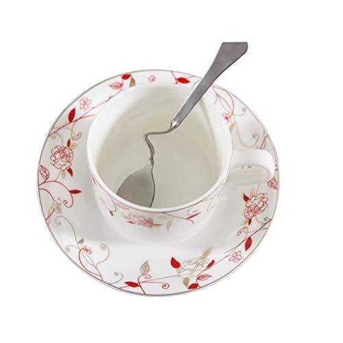 FANMENGY Cup De café de cerámica Juego de tazas XIA Europea, leche esmalte, Copa de agua de cerámica, taza, Phnom Copa, Plato de porcelana de hueso taza de café con la cuchara Hogar