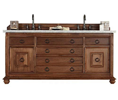 72 in. Double Vanity Cabinet in Cinnamon Finish