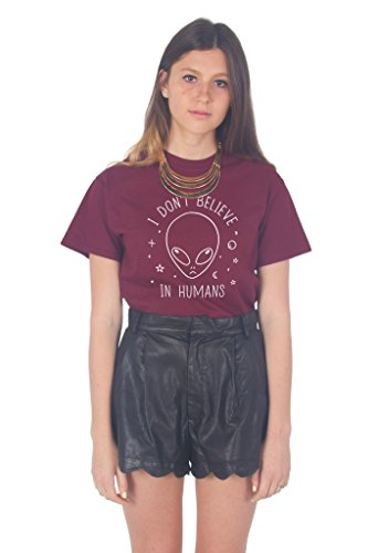 Sanfran Clothing - Camiseta para Mujer con Texto en inglés I Don't Believe in...