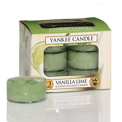 Yankee Candle Teelichter-Kerzen, Vanilla Lime, 12er-Packung