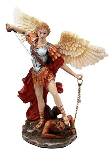 Atlantic Sammlerstücke Guido Glastisch Reni Saint Michael besiegen Satan Figur ERZENGEL Michael besiegen Lucifer Kleine Skulptur 15,9cm H