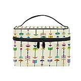 CPYang Bolsa de maquillaje de viaje con patrón de flechas tribales coloridas para cosméticos, bolsa de aseo, bolsa de maquillaje, tren para mujeres y niñas