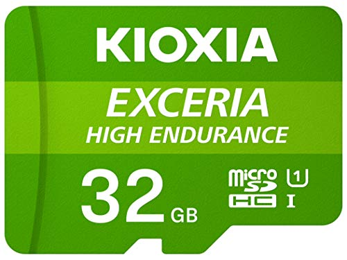 Kioxia 32GB microSD Exceria High Endurance Flash Memory Card U1 V30 C10 A1 Read 100MB/s Write 30MB/s LMHE1G032GG2