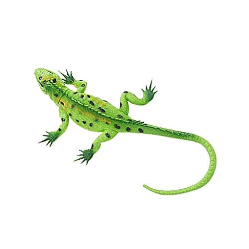 Lebendige Gummi Eidechse Modell Figur Reptil Tier Pädagogisches Spielzeug - Grün