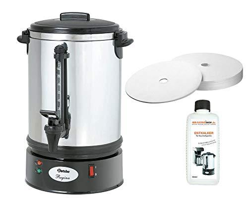 Rundfilter Kaffeemaschine Regina Plus 40T + 200 Rundfilter + Flüssig-Entkalker