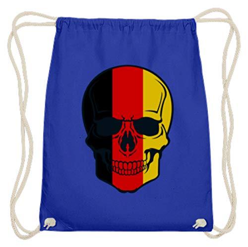 Generisch Belgian Skull - doodshoofd België kleuren - zwart rood goud - zwart rood goud - zwart rood goud - katoen gymzak