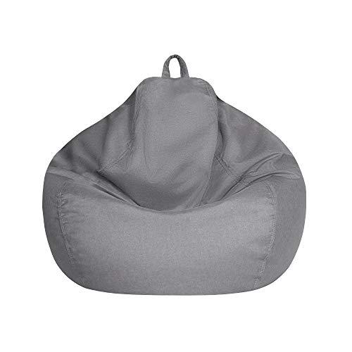 Funda para puf sin relleno, funda para sillón puf, lavable, con cremallera resistente, para adultos y niños en S, M, L