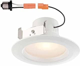 Commercial Electric 4 in. White Recessed LED Light w/Trim (90 CRI, 4000K) - Lasts Up to 50,000 Hrs - Dimmable & Moisture Resistant