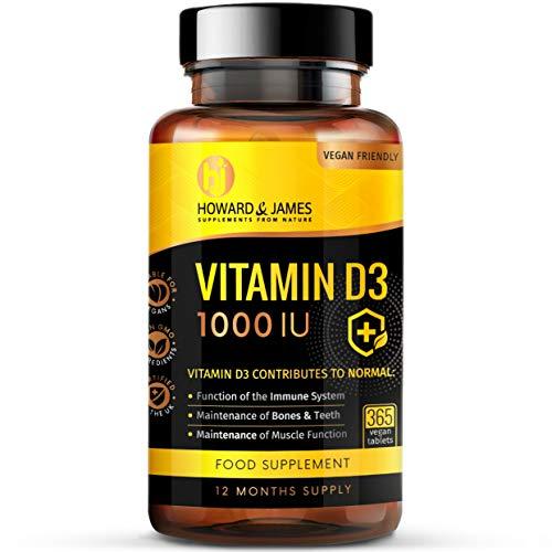 Vitamin D3   365 Vegetarian Tablets 1000IU   High Absorption Cholecalciferol