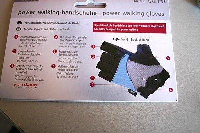Power Nordic Walking Handschuhe Gr. S/M 6,5 / 7
