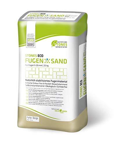 STONES ECO FUGENSAND 1-20 mm beige 25 kg - Erosionsbeständigkeit & innovative Fähigkeit kleine Fugenrisse,selbstinstandzusetzen'