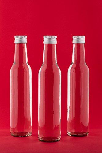 aceto 12/o 24/bottiglie di vetro da 200/ml bottiglie vuote da riempire per liquore acquavite succo olio Set da 6 slkfactory TUL-HGK con tappi
