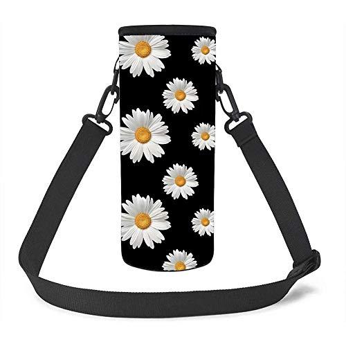 UOIMAG Funda de neopreno aislante para botellas de agua, con correa para el hombro, funda para botella de margarita, para niñas, mujeres, deportes al aire libre, tamaño pequeño, 500 ml