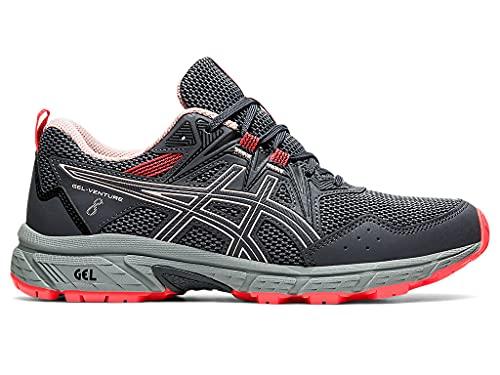 ASICS Women's Gel-Venture 8 Running Shoe, 5.5, Carrier Grey/Ginger Peach
