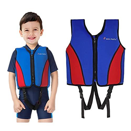 Kinder Schwimmweste Jungen Mädchen Neopren Schwimmen Jacke Kleinkind Flotation Badeanzug Bademode Schwimmtraining Hilfe mit Einstellbare Sicherheits Straps Schwimmen Lernen, 6-9 Jahre