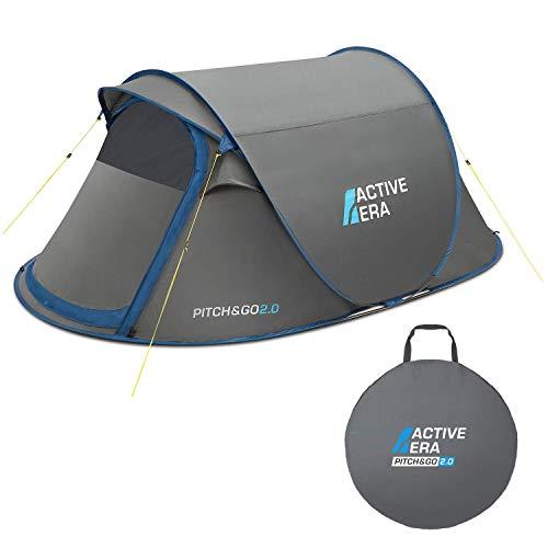 Active Era® V2 waterdichte tweepersoons pop-up-tent – 100% stormbestendig met geavanceerde ventilatie en eenvoudig instructies voor het opzetten | perfect voor kamperen en festivals