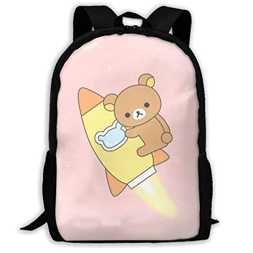 Schüler Bag,Rilakkuma Korilakkuma Anime Kids Rucksack Schultasche, Auffällige Schultaschen Für Sportlauf,43x28x16cm