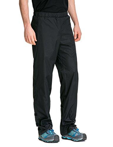 TRAILSIDE SUPPLY CO. Men's Snow Rain Pants Basic Insulated Workout Pants,Waterproof,Windproof Black 2XL