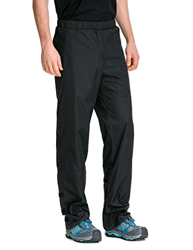 TRAILSIDE SUPPLY CO. Men's Snow Rain Pants Waterproof, Windproof Black Medium