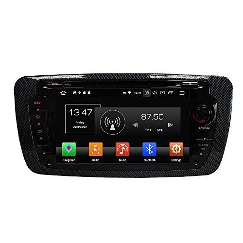 KUNFINE Android 10 Ocho nucleos Ram 4G ROM de 32 GB Autorradio GPS Navegación DVD Reproductor Multimedia Control del Volante Unidad Principal Estéreo porSEAT Ibiza 2009-2014