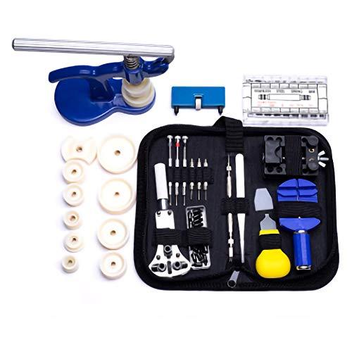 SunshineFace Juego de herramientas de reparación de reloj, removedor de barra de resorte, herramienta abridor de caja de reloj para reemplazar la batería
