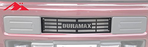 "Mountains2Metal ""Duramax Stainless Steel Powder Coated Black Bumper Grille Insert Compatible with 2015-2019 Chevy Silverado 2500 3500 HD M2M #400-60-1"
