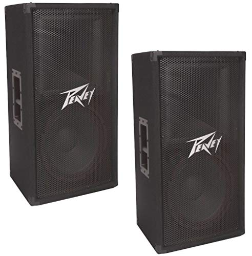"Peavey (2) Pv112 Pro Audio DJ Single 12"" Passive 2-Way 800W Pa Speaker Pair New"