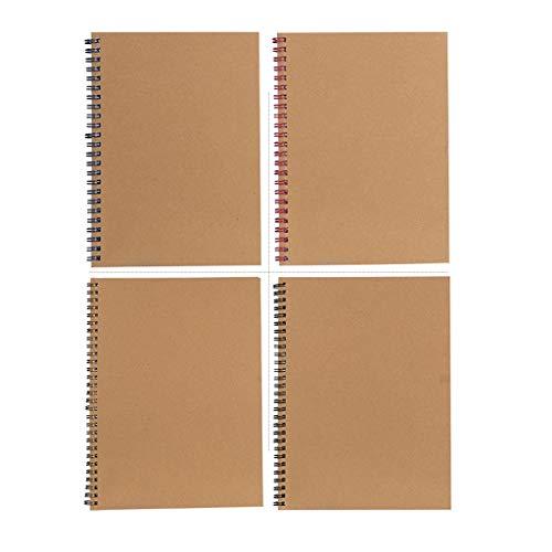Agenda de oficina retro espiral espiral espiral cuaderno cuaderno de papel kraft revista estudiante cuaderno de notas investigando cuadernos escritura