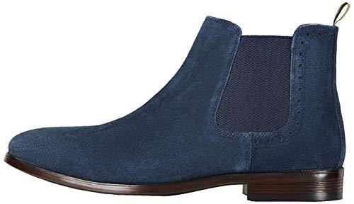 find. Marin Chelsea Boots, Blau (Navy (Suede), 43 EU