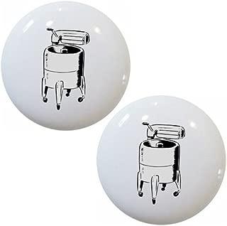 Set of 2 Wringer Washing Machine Laundry Ceramic Cabinet Drawer Knobs