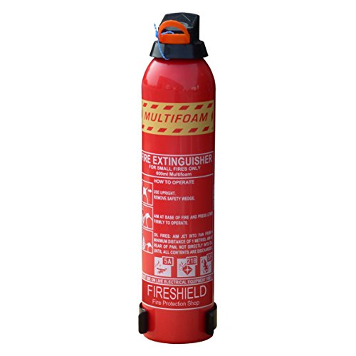 FireShield 600ml Cooking Fire Extinguisher - ABF MultiFOAM for Home & Leisure