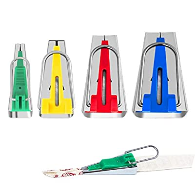 Bias Tape Maker Set 6MM/12MM/18MM/25MM 4 Sizes DIY Quilting Tools Kit